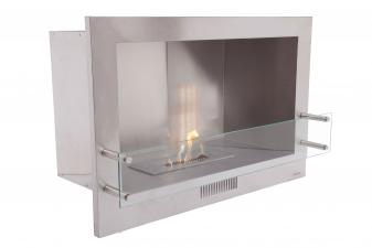 Biochimenea mural insertable con regulador de llama