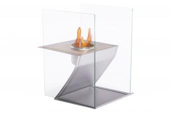 Biochimenea de sobremesa con cristal templado