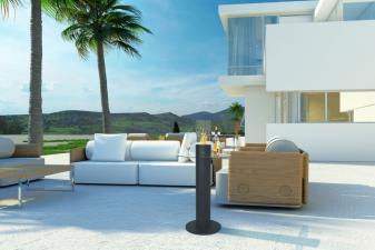 biochimenea utilizable como mesa en patios y terrazas1293