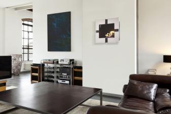 moderna y elegante biochimenea mural ideal para cualquier sala1817