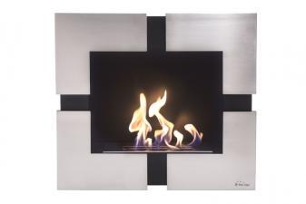 Biochimenea mural en acero inoxidable con regulador de llama