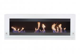 Biochimenea mural panorámica de gran anchura con triple llama