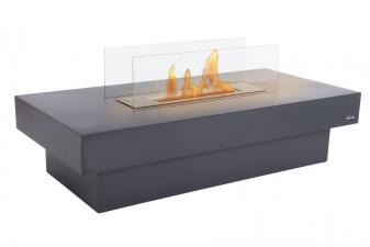 Biochimenea mesa de centro en acero esmaltado en negro