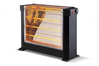 Calefactor halogeno con 4 barras cuarzo potencia de 2200W y termostato ajustable