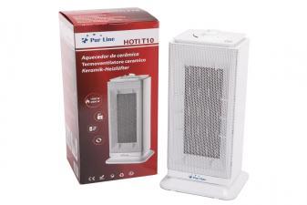 calefactor con resistencia cerámica con caja a color2823