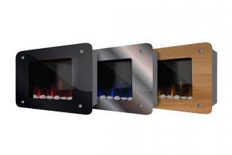 Chimenea Eléctrica con paneles intercambiables y mando a distancia