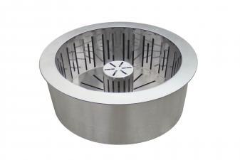 Quemador pellet en acero inox de doble capa con cesta recoge cenizas PB30 de PURLINE