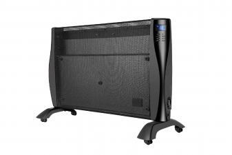 Radiador de Mica digital programable de 2000W con ruedas color negro