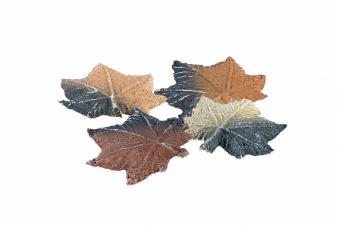 Hojas de Arce fabricadas en fibra cerámica decorar biochimenas