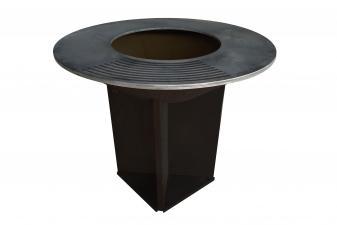 Barbacoa grande en acero color negro con plancha acero y grill EFP56B