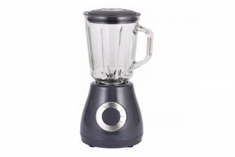 Batidora de vaso con jarra de cristal y 5 velocidades