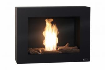 Biochimenea mural color negro con regulador de llama