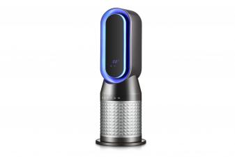 Calefactor de torre digital con LED ambiental