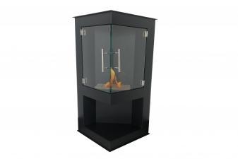 Estufa de bioetanol esquinera con dos puertas