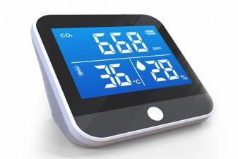 Medidor calidad del aire con detector de CO2