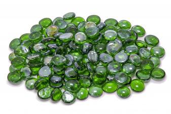 Cristal decorativo resistente al fuego redondo color verde