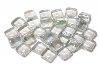 Cristal decorativo resistente al fuego con forma cuadrada color transparente