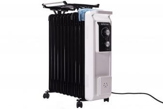 Radiador de aceite de 2500W con tendedero y recipiente humidificación