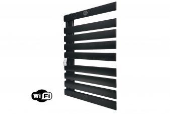 Radiador toallero 425W de diseño color negro y control WIFI