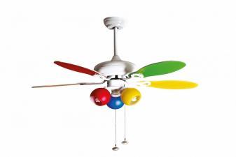 Ventilador de Techo multicolor con luz