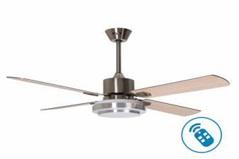 Ventilador de Techo motor DC reversible con Luz y Mando a distancia